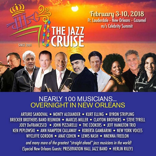 The Jazz Cruise offering Berks Jazz Fest fans special cabin pricing! Sign Up Now And Save!